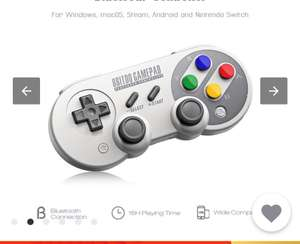 8Bitdo SF30 Pro Wireless Bluetooth Controller with Joystick , for £24.98 delivered @Aliexpress