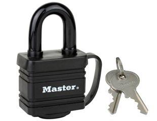 Master Lock 7804EURD Weather Tough Laminated Steel Padlock - Black 40mm £5 @ wickes
