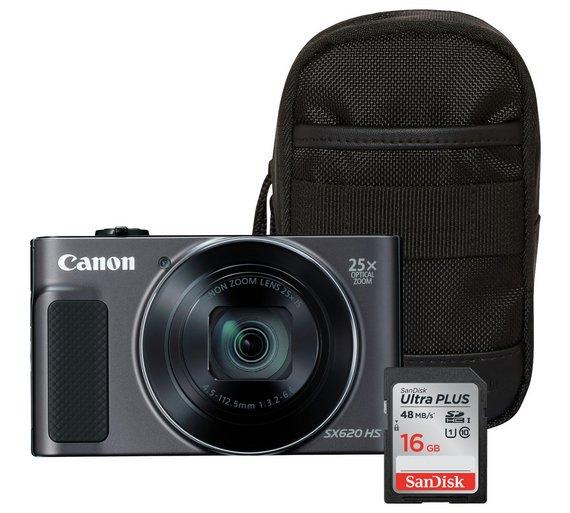 Canon PowerShot SX620 HS 20MP 25x Zoom Camera Bundle - £159.99 @ Argos