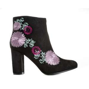 Dolcis Felicity Embroidered Boots in black - £8.99 (free delivery with code) @ Get The Label