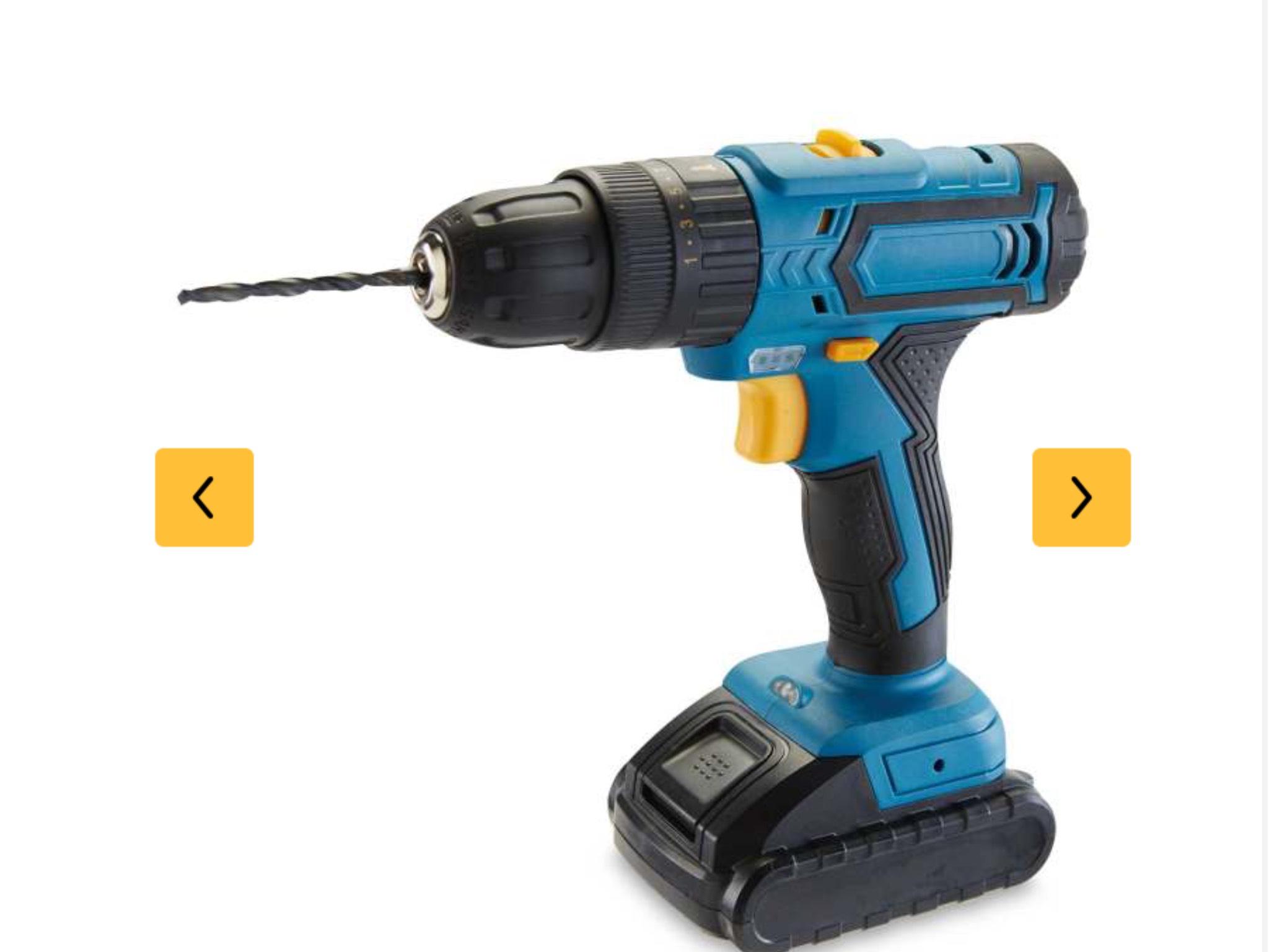 Workzone cordless hammer drill / driver £24.99 delivered @ Aldi