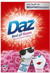 Daz washing powder- special scent addition: Bed of Roses 40 washes only £4! @Asda in-store offer