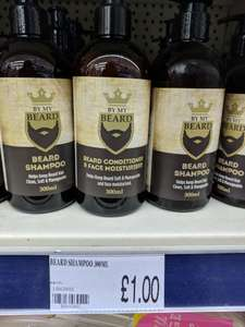 BY MY BEARD Shampoo 300ml from PoundWorld for £1