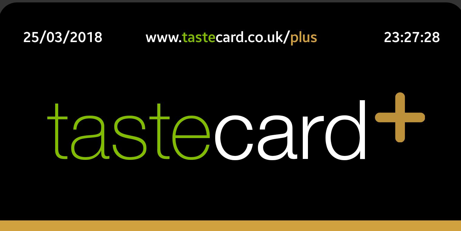 125 days taste card plus digital membership @ O2 priority