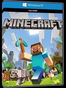 Minecraft: Windows 10 Edition, downloadable as a key from MMOGA for £1.32