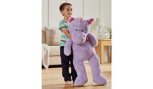 BACK in stock -Giant 1 metre high toy Unicorn OR Elephant £10 @ Asda