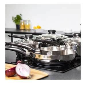 Morphy Richards Equip 5 Piece Pan Set - Stainless Steel £33.99 Amazon