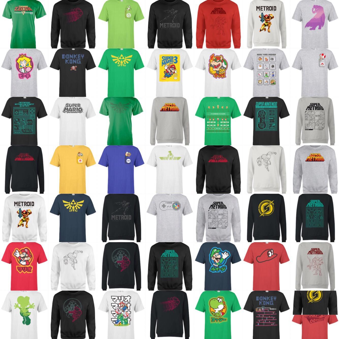 Nintendo Sweatshirt + t-shirt £24.99 (+99p delivery) @ Zavvi