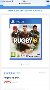 Rugby 18 PS4 £10.99 @ Smyths toys