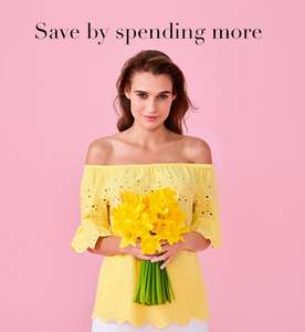 £10 Off £50 / £15 Off £75 / £25 Off £100 spend on Clothing - works on sale and non-sale items @ Tesco F&F Clothing
