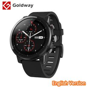 English Version Xiaomi Huami Amazfit Stratos Pace 2 Smart Watch with GPS PPG Heart Rate Monitor Firstbeat VO2max 5ATM Waterproof @ Hong Kong Goldway / aliexpress