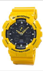 Casio G-Shock GA-100A-9ADR GA100A-9ADR Velocity Indicator Alarm watch Free delivery £54 @ Creation watches