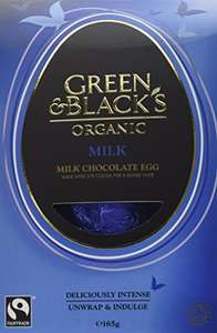 Green & Black's Organic Milk Chocolate Egg 165 g (Pack of 4) £14.60 / £19.35 non prime  at Amazon