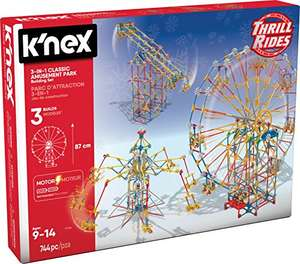 K'NEX Thrill Rides 3-in-1 Classic Amusement Park Building Set for Ages 9+, Engineering Education Toy, 744 Pieces £41.99 Amazon