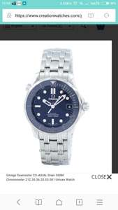 Omega Seamaster CO-AXIAL Diver 300M Chronometer 212.30.36.20.03.001 Unisex Watch - £1916 at Creation Watches