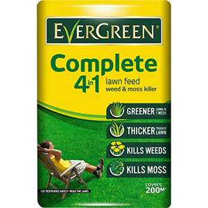 EverGreen 7 kg Complete 4-in-1 Lawn Care Bag, covers 200m² and cheaper than a bag half the size! £7.49 prime / £12.24 non prime @ Amazon