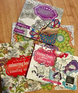 £1 Top quality Adult colouring books/Postcards/Art @ Poundland