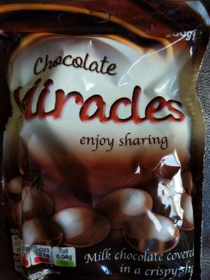 Chocolate miracles 200g (Like galaxy minstrels) 69p at Heron Foods