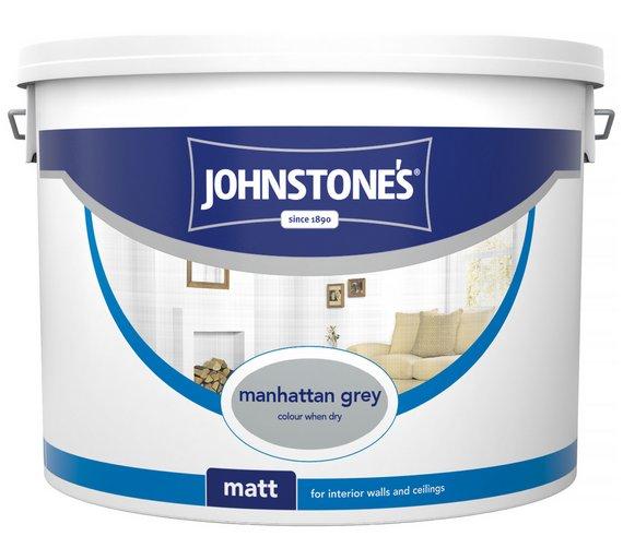 Johnstone's Matt Emulsion Paint 10L - Manhattan Grey £14.99 @ argos