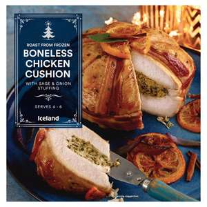 Iceland Roast From Frozen Boneless Chicken Cushion with Sage & Onion Stuffing 1.5Kg - £7