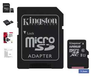 Kingston 128GB Canvas Select Micro SDXC Card £23.74 Mymemory with code
