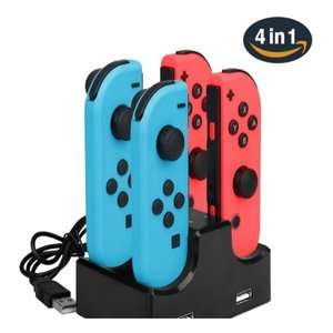 4 in 1 Charging Dock with 2-Port USB Hub for Nintendo Switch Joy-Con £5.17 delivered @ Tomtop