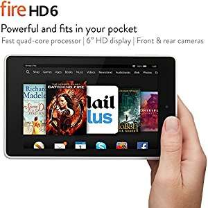 "(Warehouse deals very good condition) Fire HD 6, 6"" HD Display, Wi-Fi, 16 GB (White) £38.23 @ amazon warehouse deals"