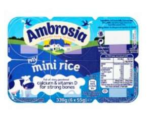 Ambrosia my mini rice 6x55g £1 (was £1.60) instore Tesco
