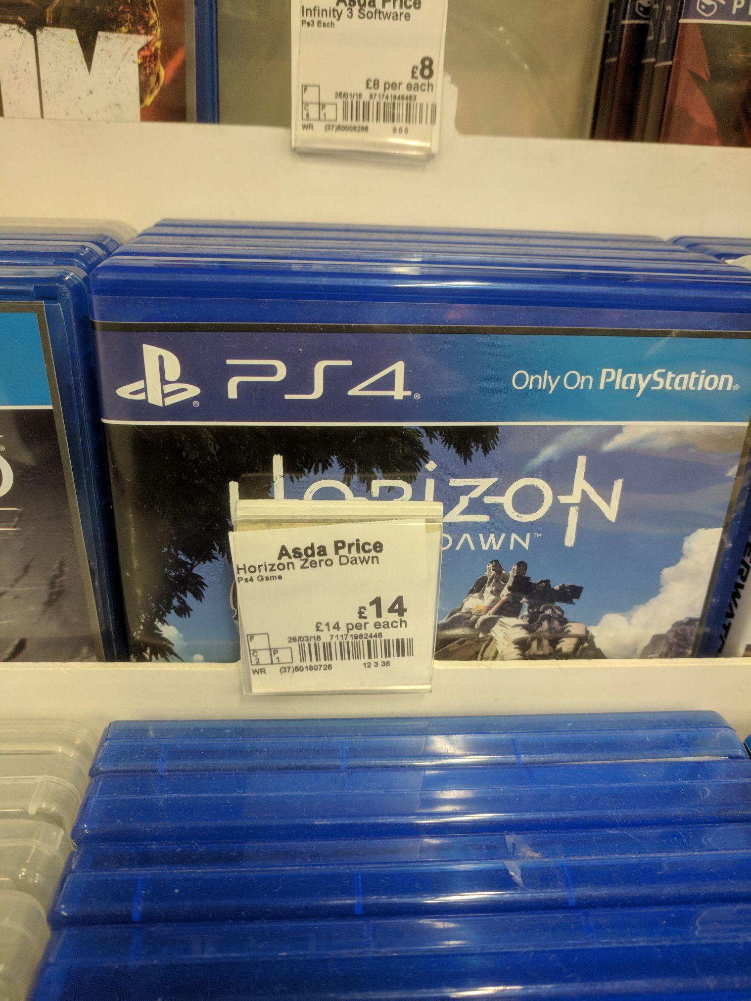 Horizon Zero Dawn £14 Asda in-store