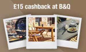 £15.00 cash-back with £15+ spend @ Groupon and B&Q via TopCashBack  (New and select members only)