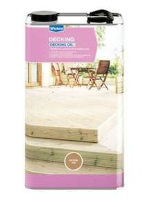 Wickes Decking Oil - Natural Oak 5L was £30 now £15