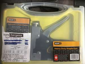 Heavy Duty Staple Gun in store £4.99 @ Home Bargains