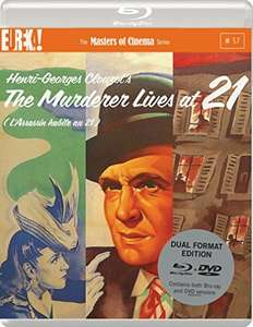 The Murderer Lives At 21 (Masters of Cinema) Dual Format (Blu-ray & DVD) Edition £6.99 prime / £8.09 non prime Sold by bestmediagroup and Fulfilled by Amazon