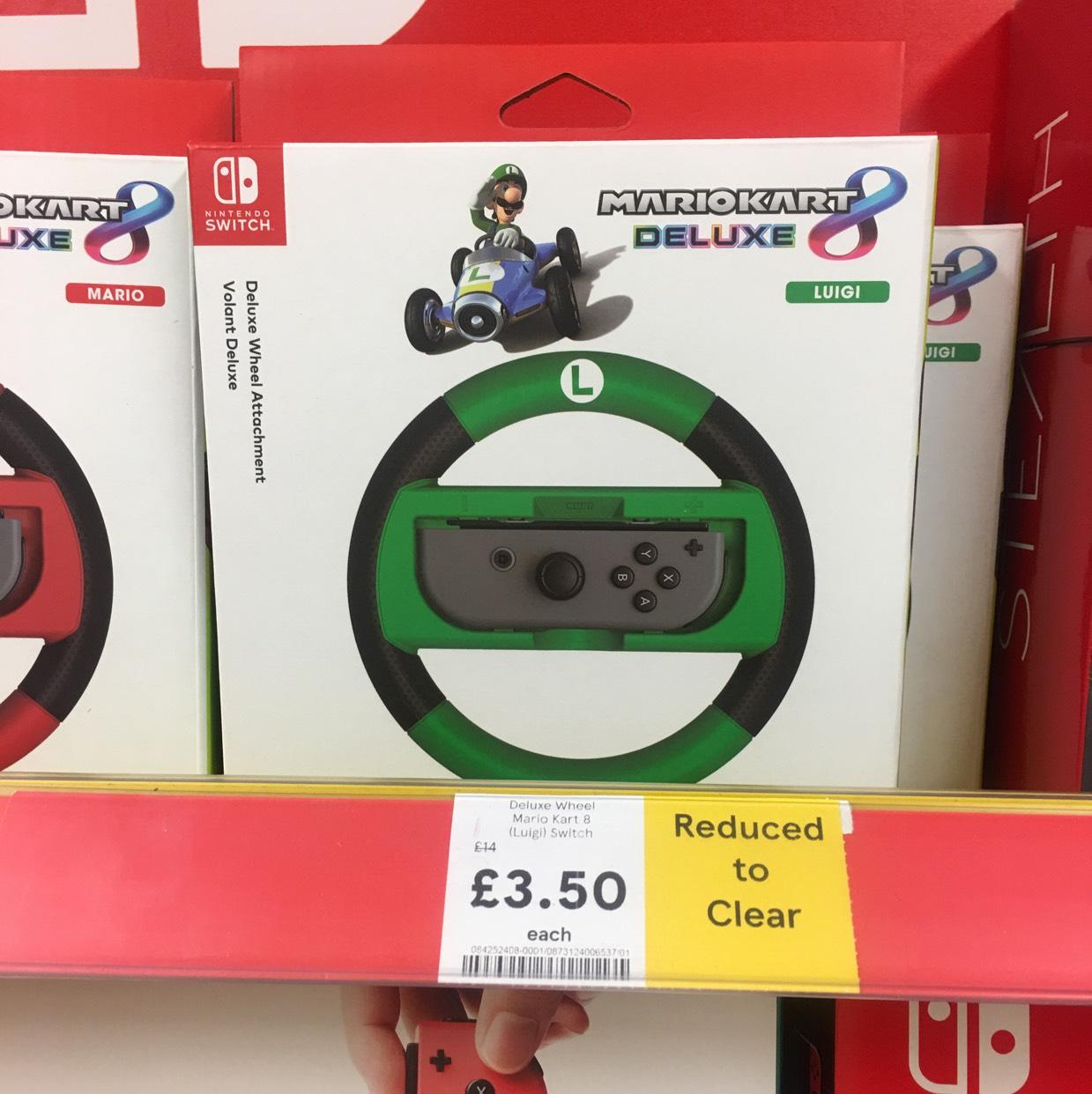 Mario kart 8 deluxe wheels (Nintendo Switch) £3.50 @ Tesco (Greenstead)