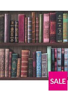 Wallpaper sale @ Very, Graham & Brown Book shelf wallpaper £6 @ Very