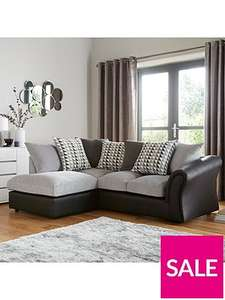 Was £999 Linear Left Hand Scatterback Compact Corner Chaise Sofa £499 @ Very