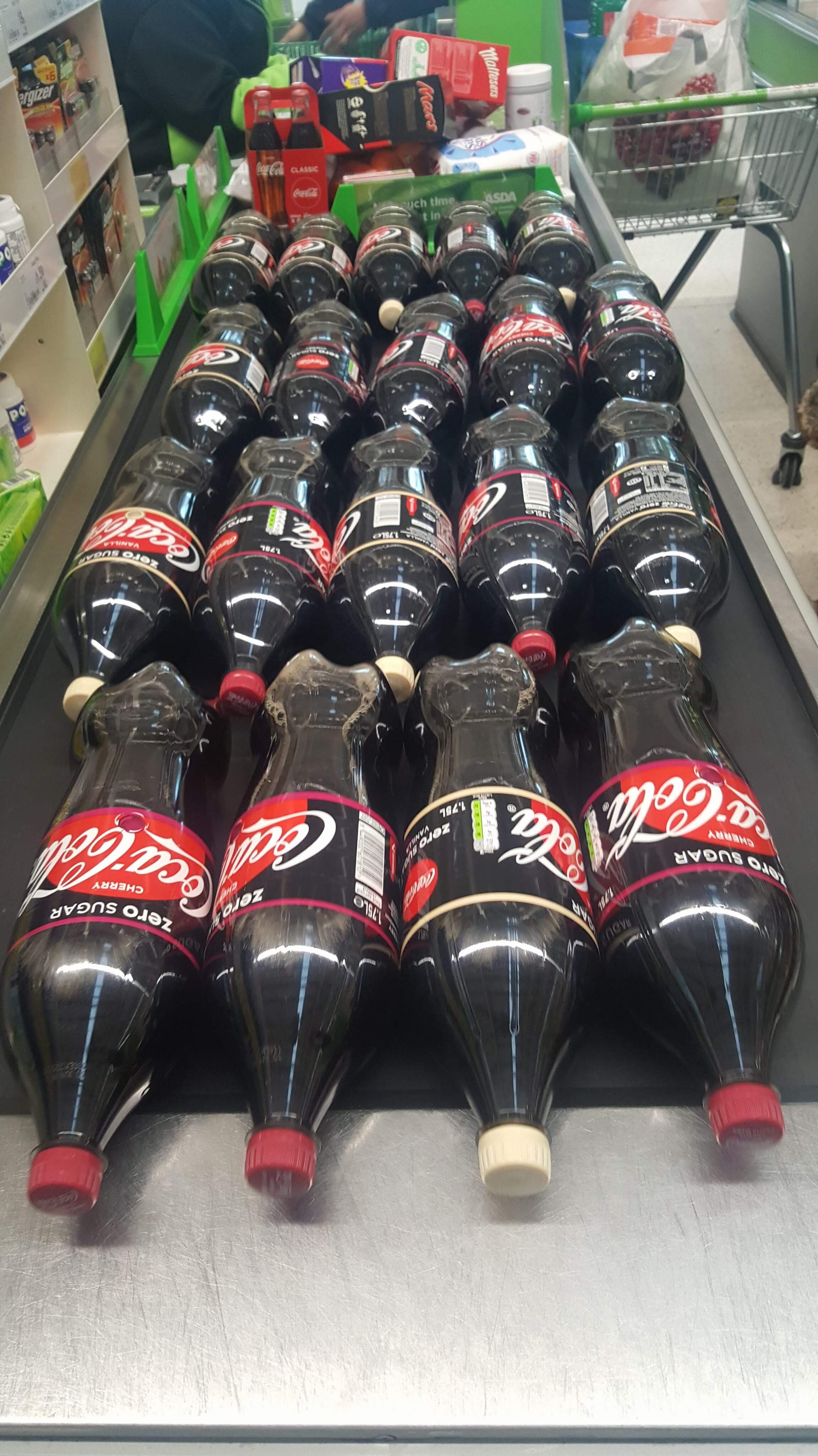 Coke Zero 1.75L reduced 75p in Asda