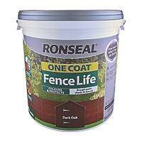 Ronseal one coat fence life 9 Litre tubs  2 for £12 @ Screwfix C&C