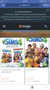 The Sims 4 / Expansion packs half price on Origin for limited time £17.49