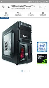 vulcan tyrant ii gaming pc - £699.99 @ Maplin