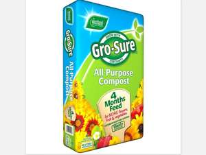 Gro Sure Compost (w/4 month feed) 5 for £10 @ Homebase