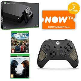 Xbox One X with Far Cry 5, Halo 5, Recon Controller & NOW TV £449.99 - GAME
