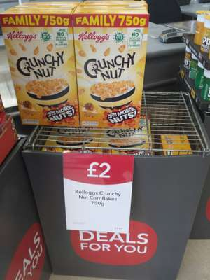 Kellogg's Family Size Crunchy Nut Cornflakes 750g £2 instore @ Central England Co Op