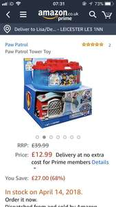 Paw patrol construct the lookout Tower Toy  £12.99 Amazon - Prime Exclusive