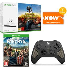 Xbox One S 1TB with PUBG, Far Cry 5, Recon Controller & NOW TV £229.99 at GAME