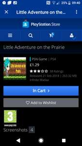 Little adventures on the Prairie £1.29 PS4 & £1.49 PS Vita on PSN