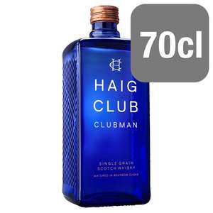Haig Clubman Whiskey 70cl £15 @ Tesco