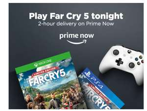 Far cry 5 Limited Edition £48 / £38 Play Tonight 2 hr delivery Prime Now Amazon new members £38