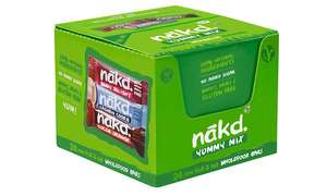 Nakd Mix Cocoa Orange, Cashew Cookie, Berry Delight 24x Pack £12 / £13.99 delivered @ Groupon