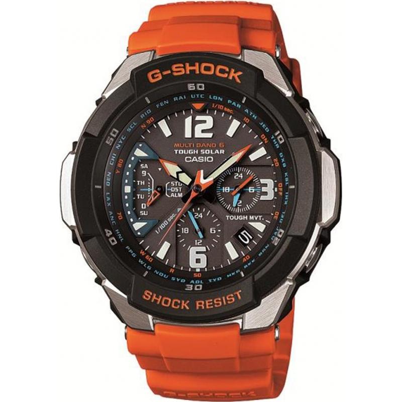 Casio Mens G-Shock Radio Controlled Orange Solar Powered Watch  - £139 w/code @ Watches2u